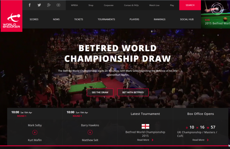 World Snooker website